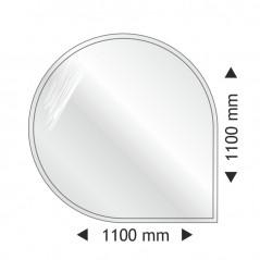 Скляна основа кругла-кутова 1100x1100 mm
